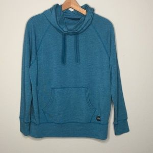 The North Face Blue Cowl Neck Hooded Sweatshirt